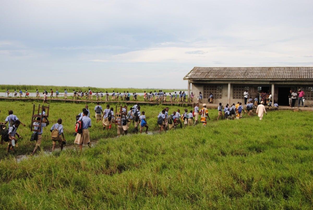 À la SSVP, l'aide internationale prend forme de jumelages, comme ici au Bénin.