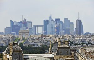 "A picture taken on August 8, 2013, in Paris shows the ""La Defense"" bussiness area, as seen from the top of the Saint Jacques Tower. AFP PHOTO / MIGUEL MEDINA        (Photo credit should read MIGUEL MEDINA/AFP/Getty Images)"