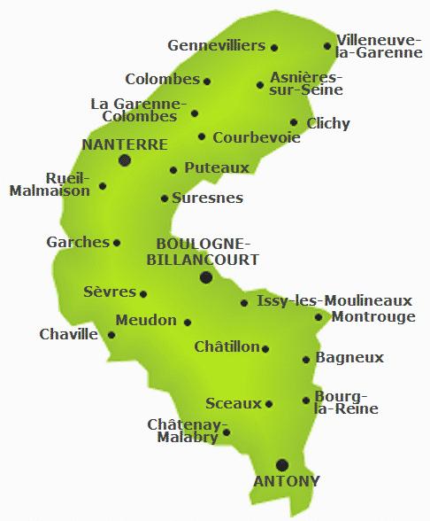 carte du 92 avec les villes 1491681597   Société Saint Vincent de Paul