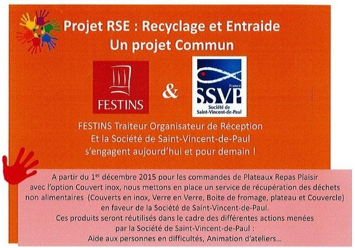 quand un traiteur renomm rencontre la ssvp c est le recyclage solidaire de vaisselle. Black Bedroom Furniture Sets. Home Design Ideas