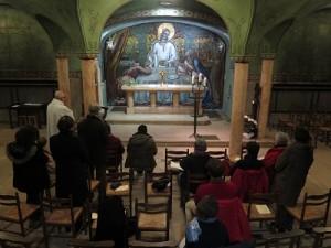 Les assidus des T.P.V. immortalisés dans la très belle crypte de l'église du Sacré-Cœur de Dijon.