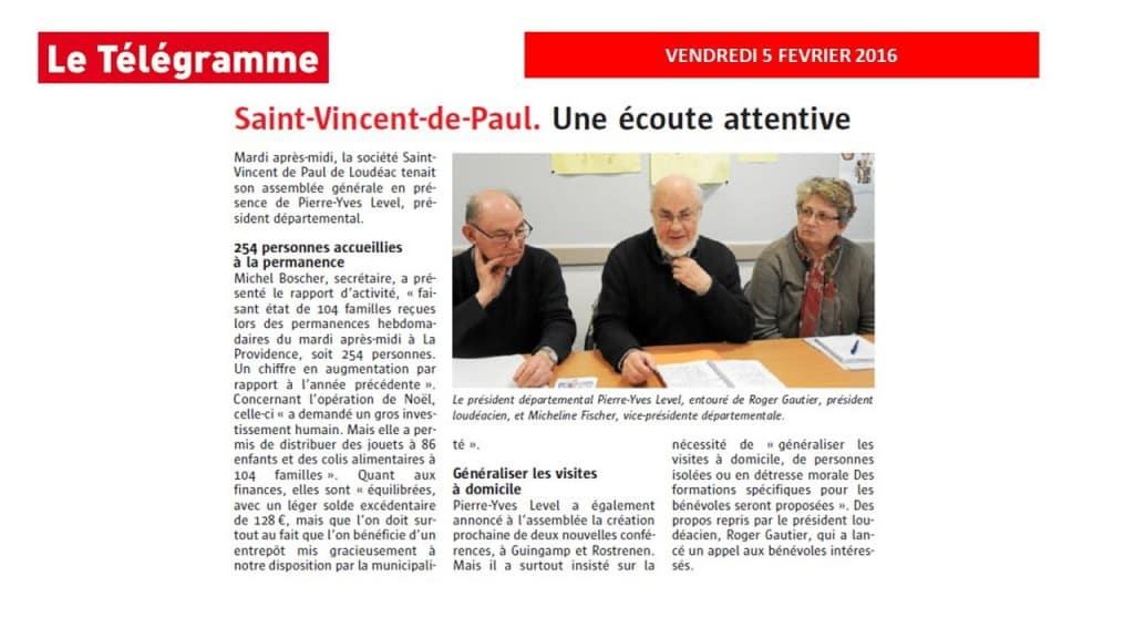 Le président départemental Pierre-Yves Level, entouré de Roger Gautier, président loudéacien, et de Micheline Fischer, vice-présidente départementale.