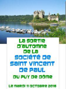 La Sortie d'Automne de la SSVP du Puy de Dôme