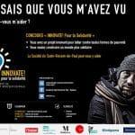 Affiche SSVP Concours Innovate! pour la solidarité