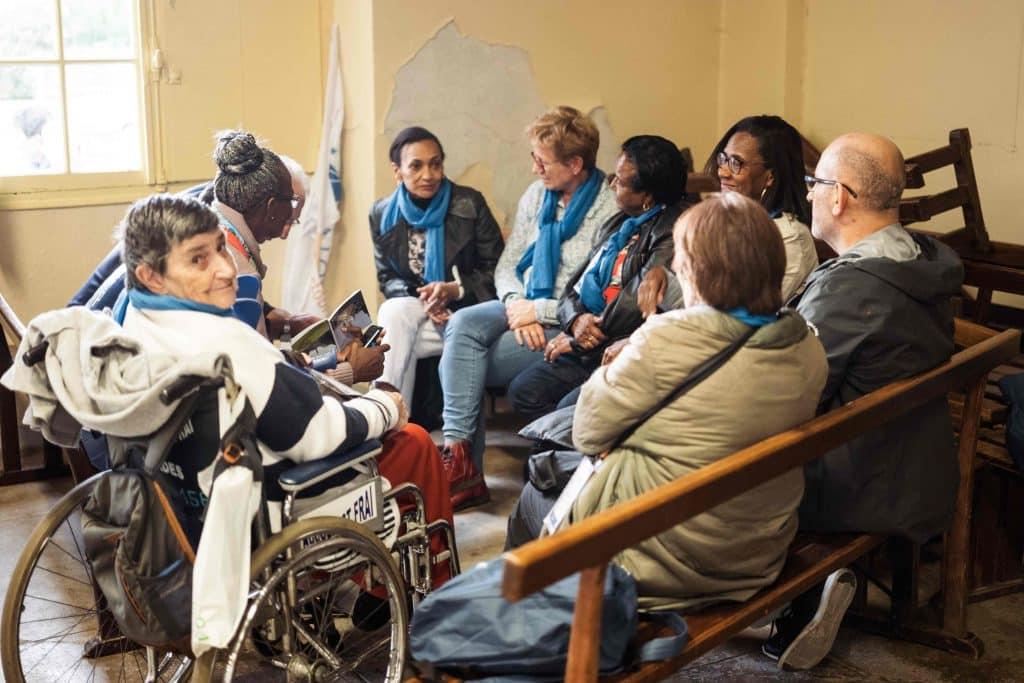 Groupe de fraternité à Lourdes
